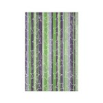 Vintage Purple and Green Rectangle Magnet