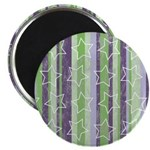 """Vintage Purple and Green 2.25"""" Magnet (10 pack)"""