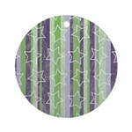 Vintage Purple and Green Ornament (Round)
