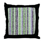 Vintage Purple and Green Throw Pillow