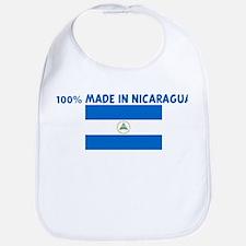 100 PERCENT MADE IN NICARAGUA Bib