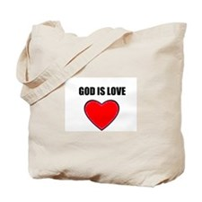 "GOD IS LOVE TOTEBAG ""ON BOTH SIDES"""