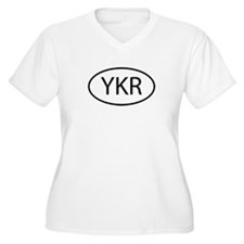 YKR Womes Plus-Size V-Neck T-Shirt