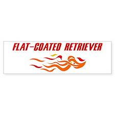 Flat-Coated Retriever (fire d Bumper Bumper Sticker