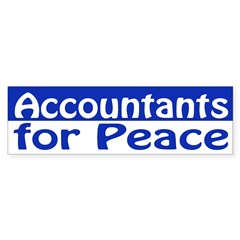 Accountants for Peace (bumper sticker)