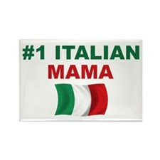 #1 Italian Mama Rectangle Magnet