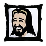 Laughing Jesus Throw Pillow