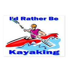 I'd Rather Be Kayaking Postcards (Package of 8)