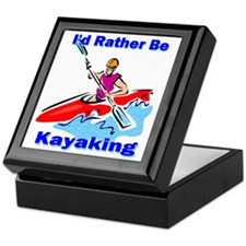 I'd Rather Be Kayaking Keepsake Box