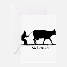Ski Iowa Greeting Card