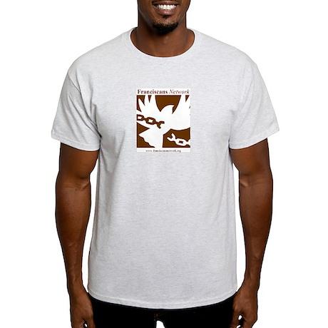 Ash Grey St. Francis Prayer T-shirt (brown)