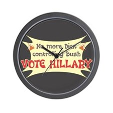 Vote Hillary Clinton Wall Clock