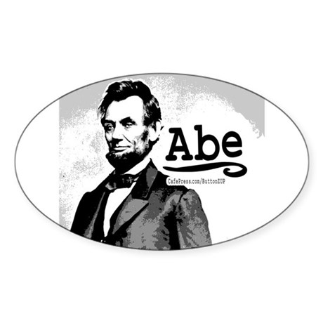 Abe Lincoln Oval Sticker