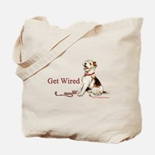 Wire Fox Terrier Dog Walk Tote Bag