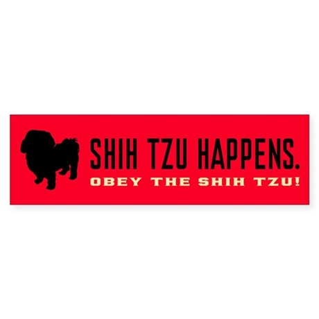 Shih Tzu Happens. Bumper Sticker