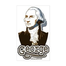 """George"" Washington Rectangle Decal"