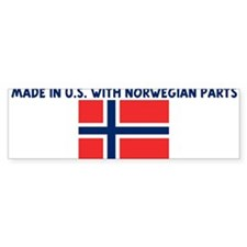 MADE IN US WITH NORWEGIAN PAR Bumper Bumper Sticker