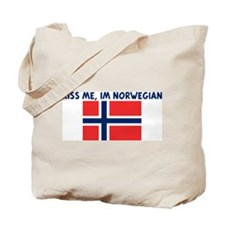 KISS ME IM NORWEGIAN Tote Bag