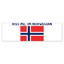 KISS ME IM NORWEGIAN Bumper Bumper Sticker