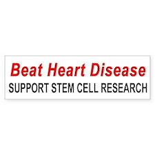 """Beat Heart Disease"" Bumper Bumper Sticker"