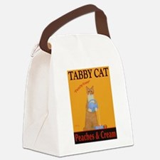 Tabby Cat Peaches and Cream Canvas Lunch Bag