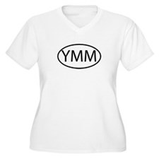 YMM Womes Plus-Size V-Neck T-Shirt