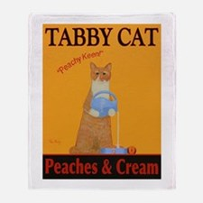 Tabby Cat Peaches and Cream Throw Blanket