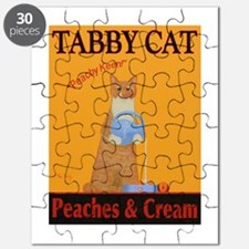 Tabby Cat Peaches and Cream Puzzle