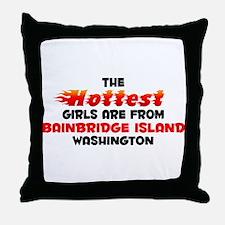 Hot Girls: Bainbridge I, WA Throw Pillow