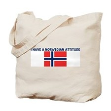 I HAVE A NORWEGIAN ATTITUDE Tote Bag