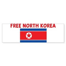 FREE NORTH KOREA Bumper Bumper Sticker