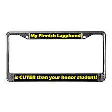 Honor Student Finnish Lapphund License Plate Frame