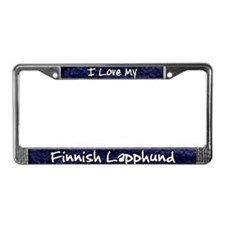 Funky Love Finnish Lapphund License Plate Frame