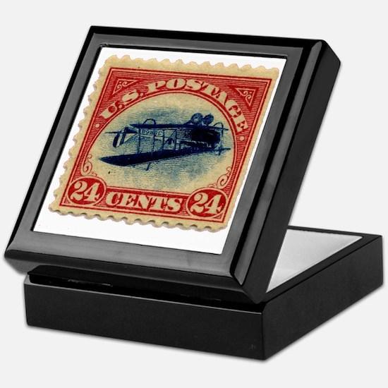Inverted Jenny Keepsake Box for Holding Stamps