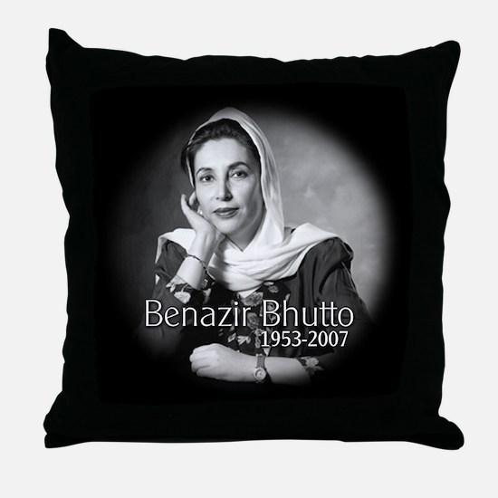 Benazir Bhutto Throw Pillow