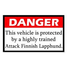 Attack Finnish Lapphund Decal