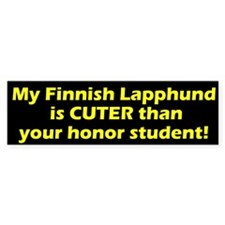 Cuter Finnish Lapphund Bumper Bumper Sticker