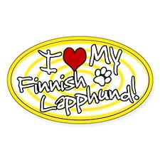 Hypno I Love My Finnish Lapphund Sticker Ylw