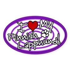 Hypno I Love My Finnish Lapphund Sticker Purp