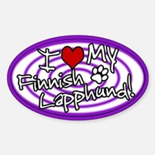 Hypno I Love My Finnish Lapphund Sticker Purp