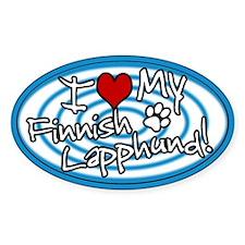 Hypno I Love My Finnish Lapphund Sticker Blue