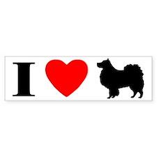 I Love Finnish Lapphunds Bumper Bumper Sticker