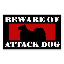 Beware of Attack Dog Finnish Lapphund Decal