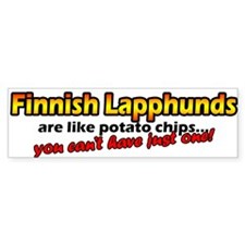 Potato Chips Finnish Lapphund Bumper Bumper Sticker