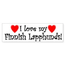 I Love My Finnish Lapphunds Bumper Bumper Sticker