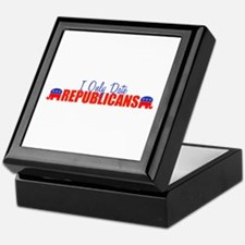 I Only Date Republicans Keepsake Box