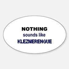 Klezmerengue Oval Decal