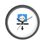 I'M NOT LAZY I'M PREGNANT/BABY ON BOARD Wall Clock