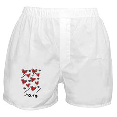 I LOVE YOU VALENTINES DAY HEART BOXER SHORTS