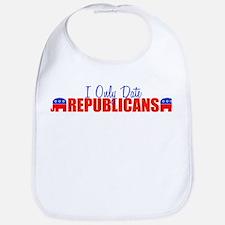 I Only Date Republicans Bib